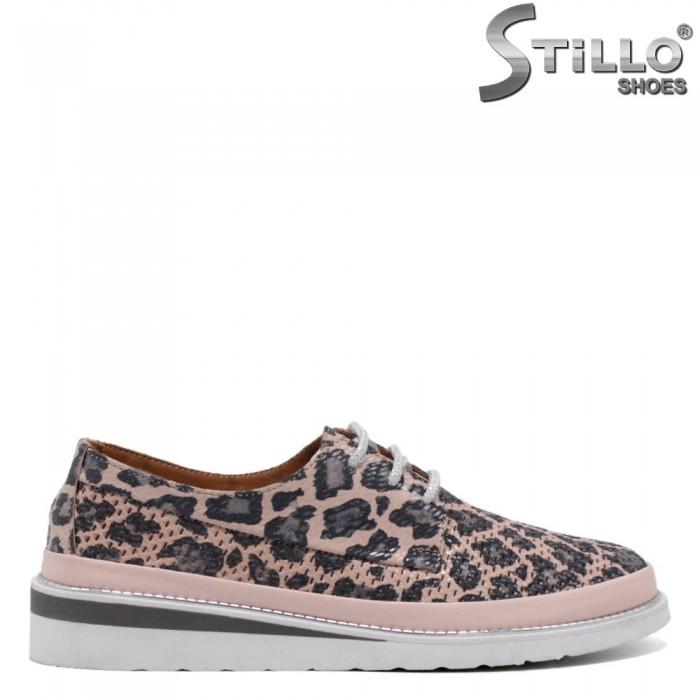 Pantofi sport roz tip leopard - 32693
