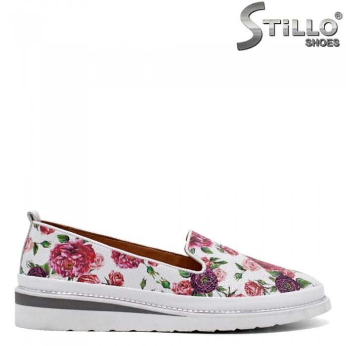 Pantofi dama colorati din piele naturala - 32696