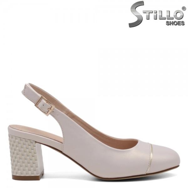 Pantofi dama din piele ecologica partea din spate decupata - 32705