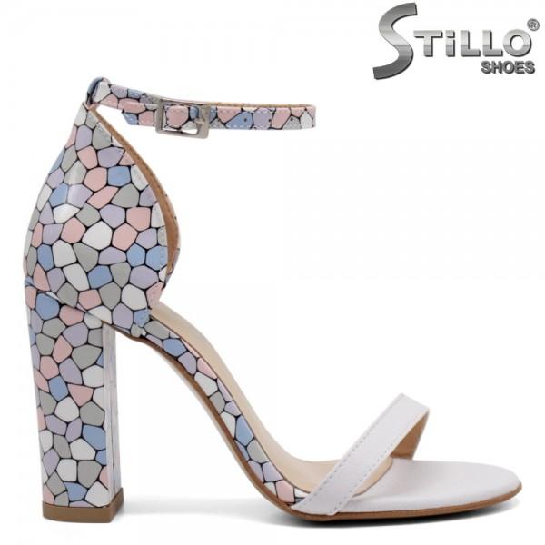 Sandale elegante cu toc inalt colorat - 32714