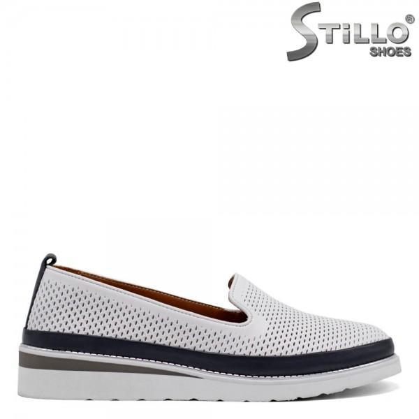Pantofi dama din piele naturala cu talpa dreapta - 32715