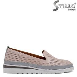 Pantofi dama de culoare roz cu perforatie - 32716
