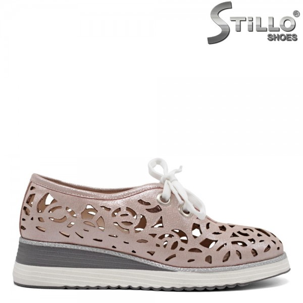 Pantofi sport de vara de culoare roz - 32718