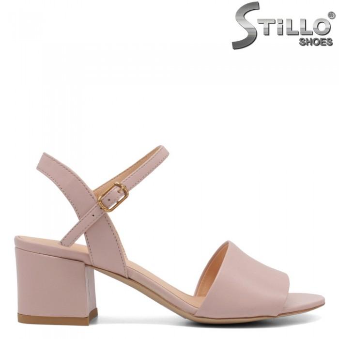 Sandale dama din piele naturala de culoare roz - 32726