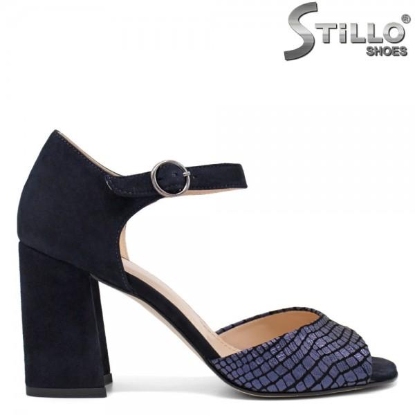 Sandale dama din velur cu toc inalt - 32729
