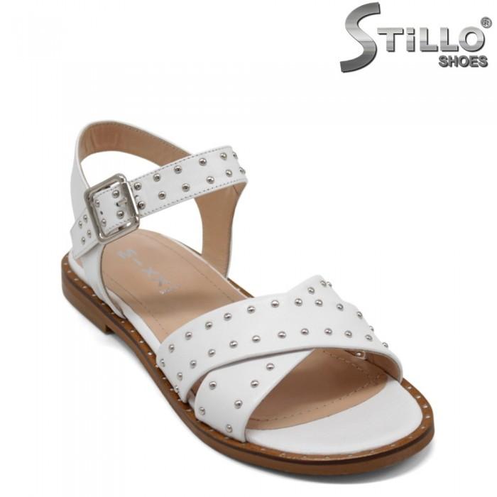 Sandale dama de culoare alb cu caspe - 32730