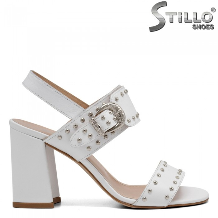 Sandale dama moderne  cu toc si capse - 32733