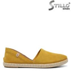 Espadrile de culoare mustard - 32737