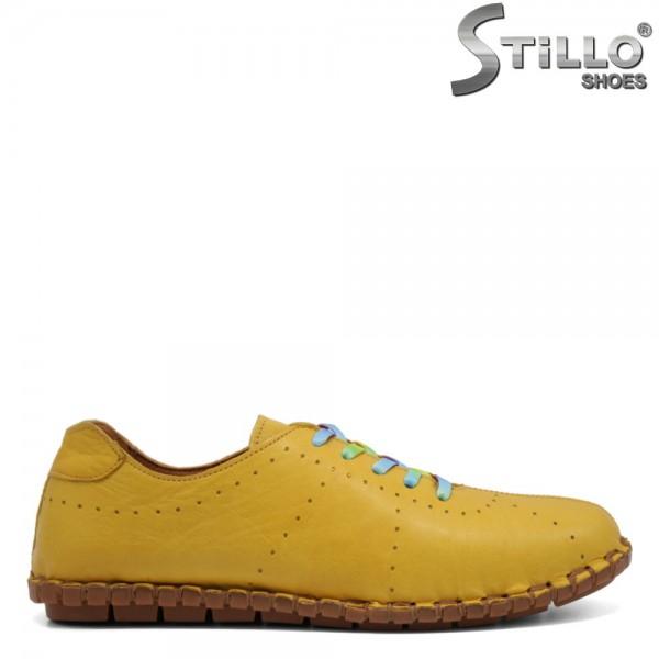 Pantofi dama sport de culoare mustar - 32747