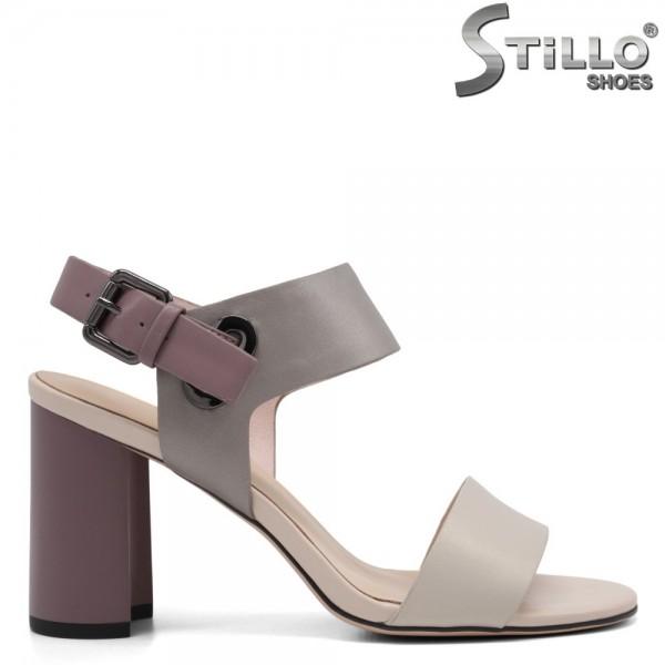 Sandale dama din piele naturala cu toc inalt - 32752