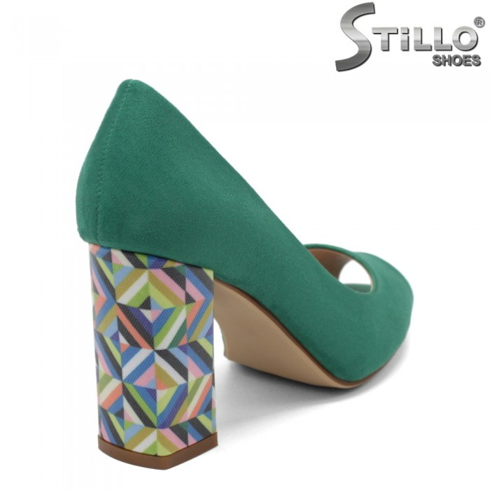 Pantofi dama moderni cu toc colorat - 32759