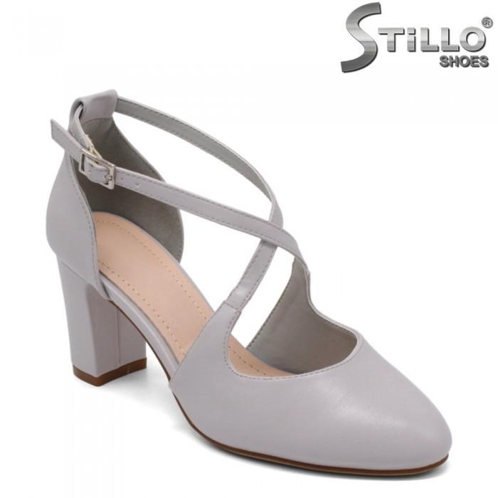 Pantofi dama de culoare gri cu toc - 32760