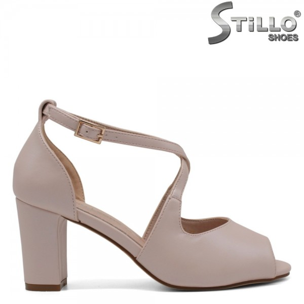 Sandale dama de culoare roz cu toc mijlociu - 32763
