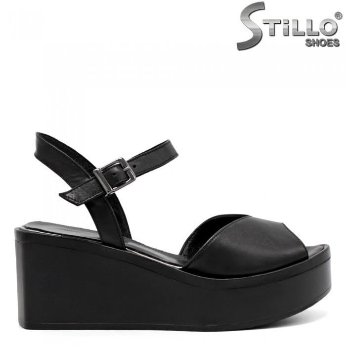 Sandale dama din piele naturala pe platforma  - 32766