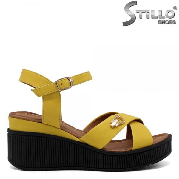 Sandale dama pe platforma de culoare galben - 32773