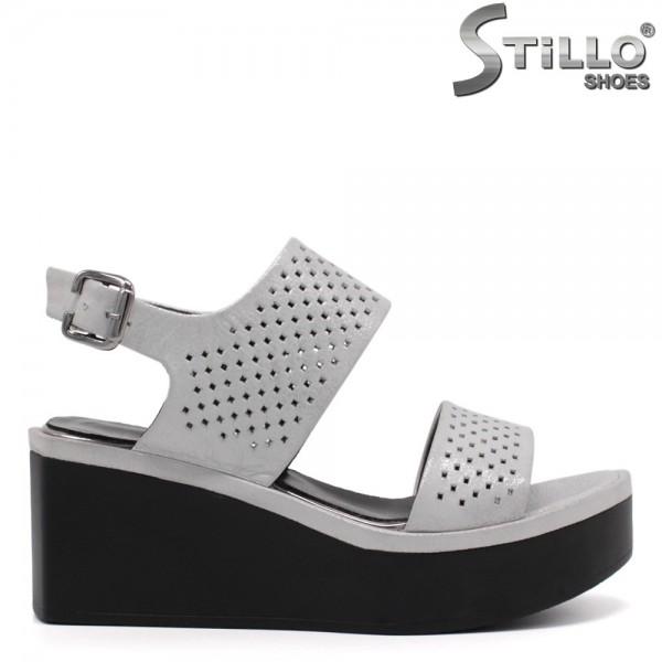 Sandale dama pe platforma si cu perforatie - 32774