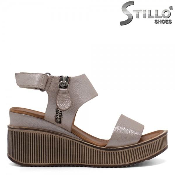 Sandale dama din piele naturala si pe platforma - 32777