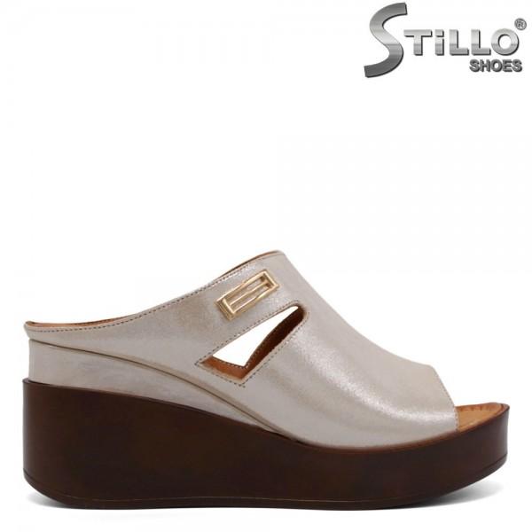 Papuci dama din piele naturala - 32784