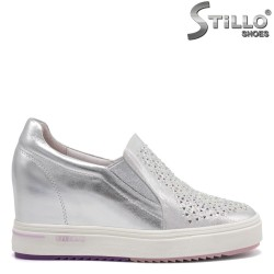 Pantofi dama sport din piele naturala si cu platforma - 32797