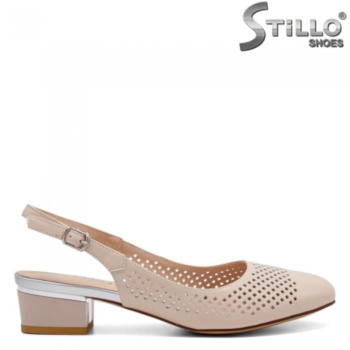 Pantofi dama cu toc jos si cu perforatie- 32806