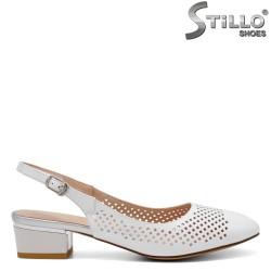 Pantofi dama din piele naturala ciu toc jos - 32808