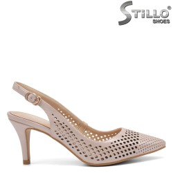 Pantofi dama eleganti cu toc miljociu - 32821