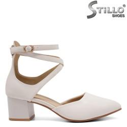 Pantofi dama din piele ecologica curelusa la glezna - 32822