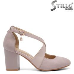 Pantofi dama cu toc mijlociu si curelusa - 32823