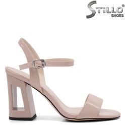 Sandale dama cu toc inalt si partea din fata decupata - 32824