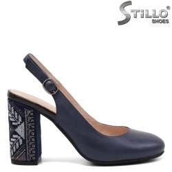 Pantofi dama cu toc si broderie - 32828