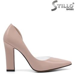 Pantofi dama din piele ecologica si lac - 32842
