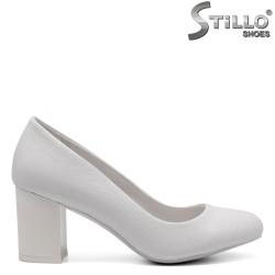 Pantofi dama pentru mireasa cu toc mijlociu - 32846