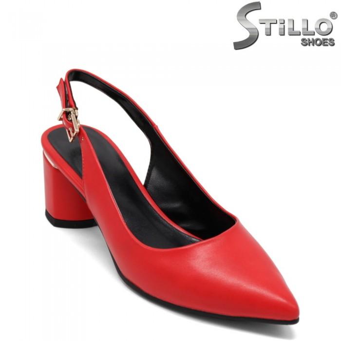 Pantofi dama de culoare rosu din piele ecologica - 32854