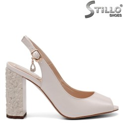 Sandale dama cu toc floral - 32861