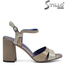 Sandale dama cu toc gros - 32866