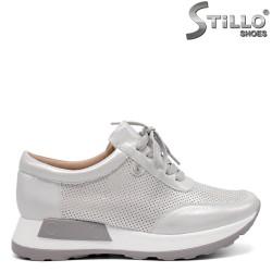 Pantofi dama sport cu perforatie si cu sireturi - 32867