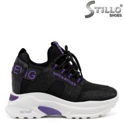 Pantofi sport de damă pe platformă - 32886
