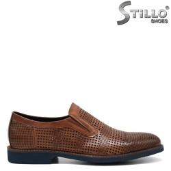 Pantofi de bărbat din piele naturală cu perforație- 32934