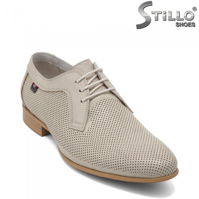 Pantofi bărbatești de vară, cu perforație - 32936