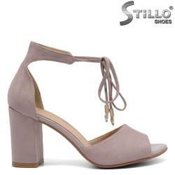 Sandale dama cu toc si cu sireturi - 32938