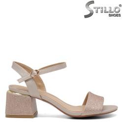 Sandale dama cu  toc mijlociu si cu pietricele - 32943