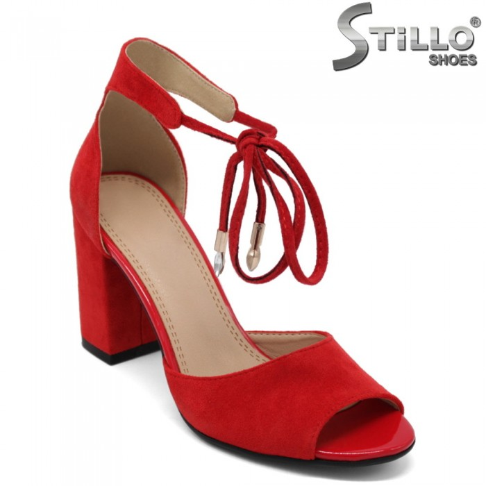 Sandale dama de culoare rosii cu toc - 32947