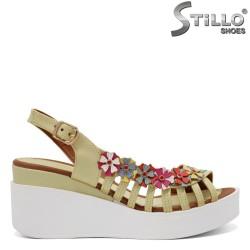 Sandale dama cu flori - 32956