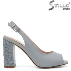 Sandale dama cu toc inalt reliefat - 32960