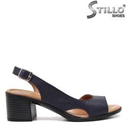 Sandale dama din piele naturala cu toc - 32964