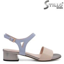 Sandale dama cu toc din piele naturala - 32975
