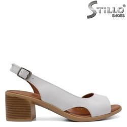 Sandale dama asimetrice din piele naturala - 32983