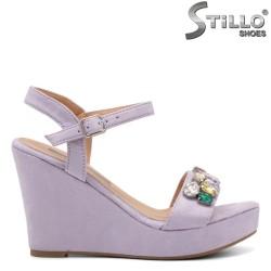 Sandale dama pe platforma cu pietricele - 32989
