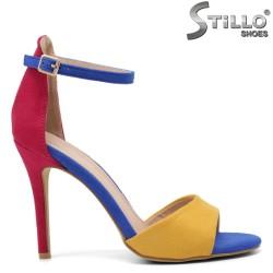 Sandale dama colorate cu toc - 32990