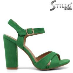 Sandale dama cu toc gros - 33008